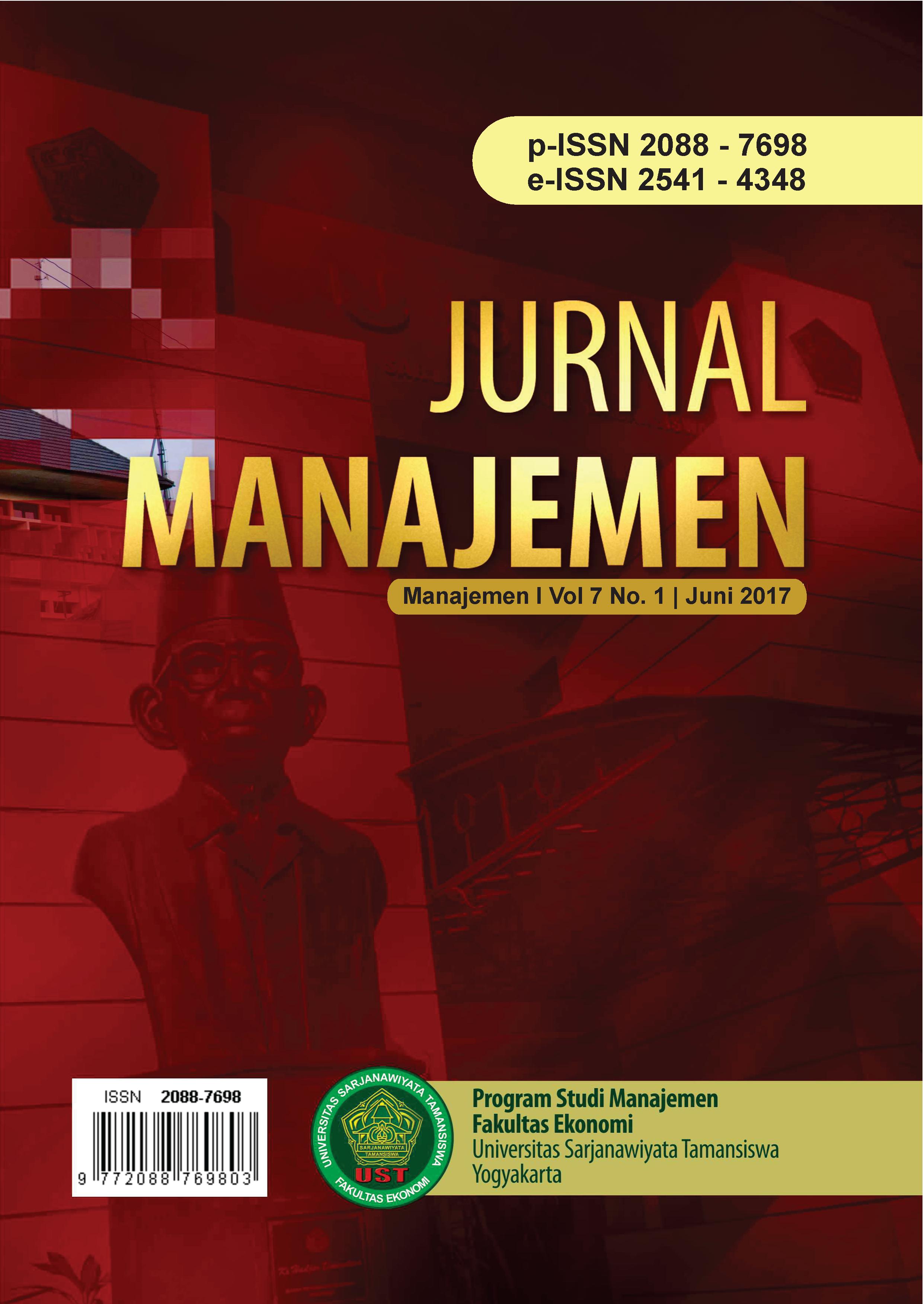 Jurnal Manajemen FE UST